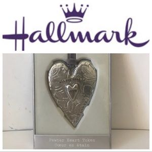 2/$25 NWT: Hallmark Pewter Heart Token Keepsake